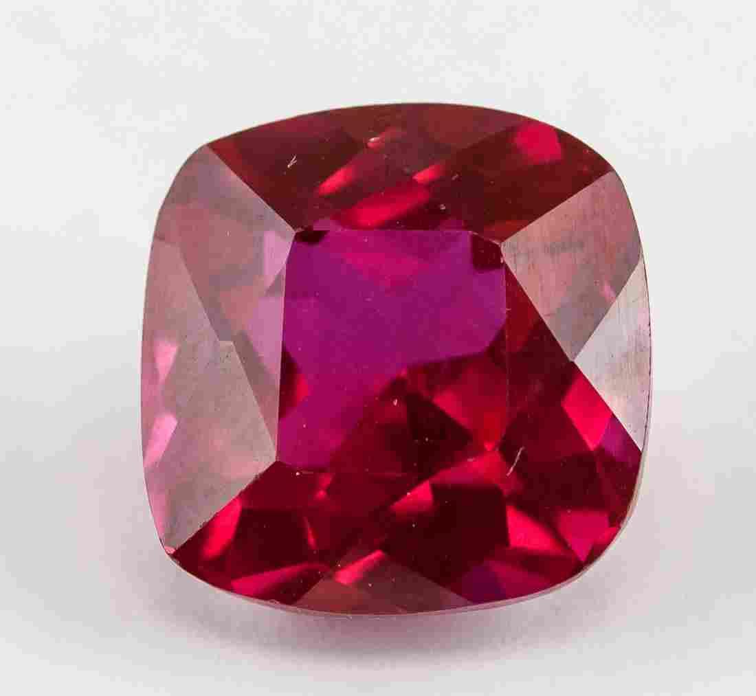 10.12ct Cushion Cut Red Ruby Gemstone