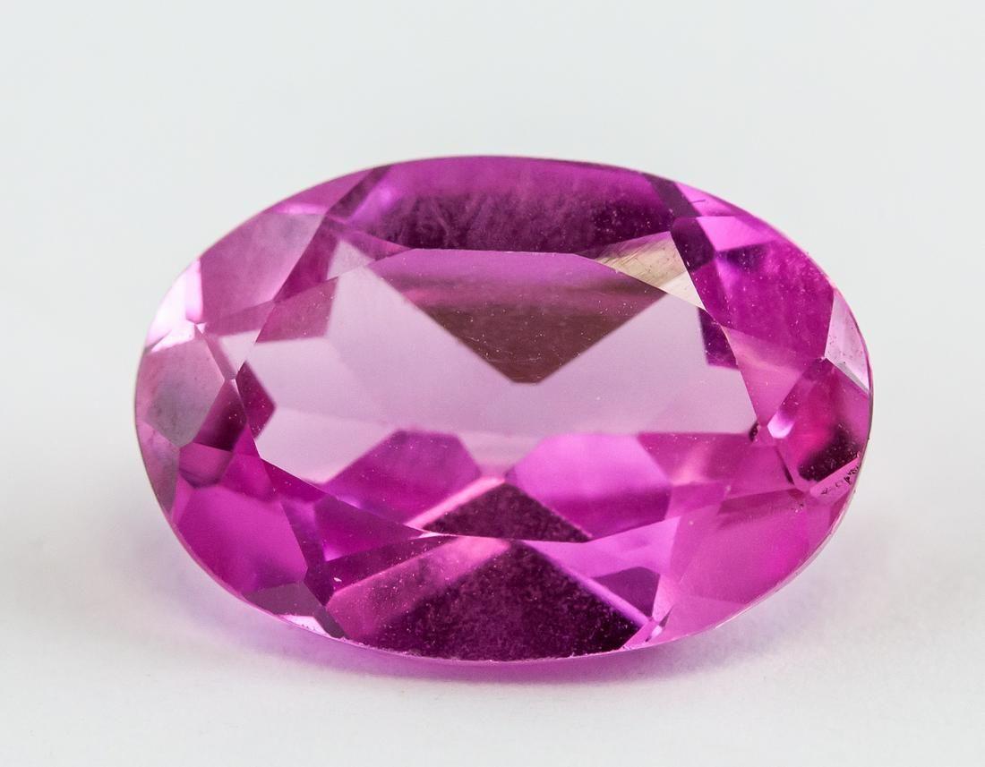 5.42ct Oval Cut Pink Ruby Gemstone
