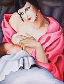 Tamara de Lempicka Polish Oil Canvas Stone Gallery