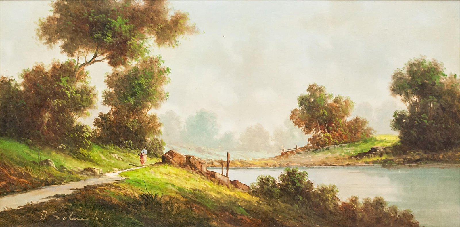 Giuseppe Solenghi Italian Modernist Oil on Canvas