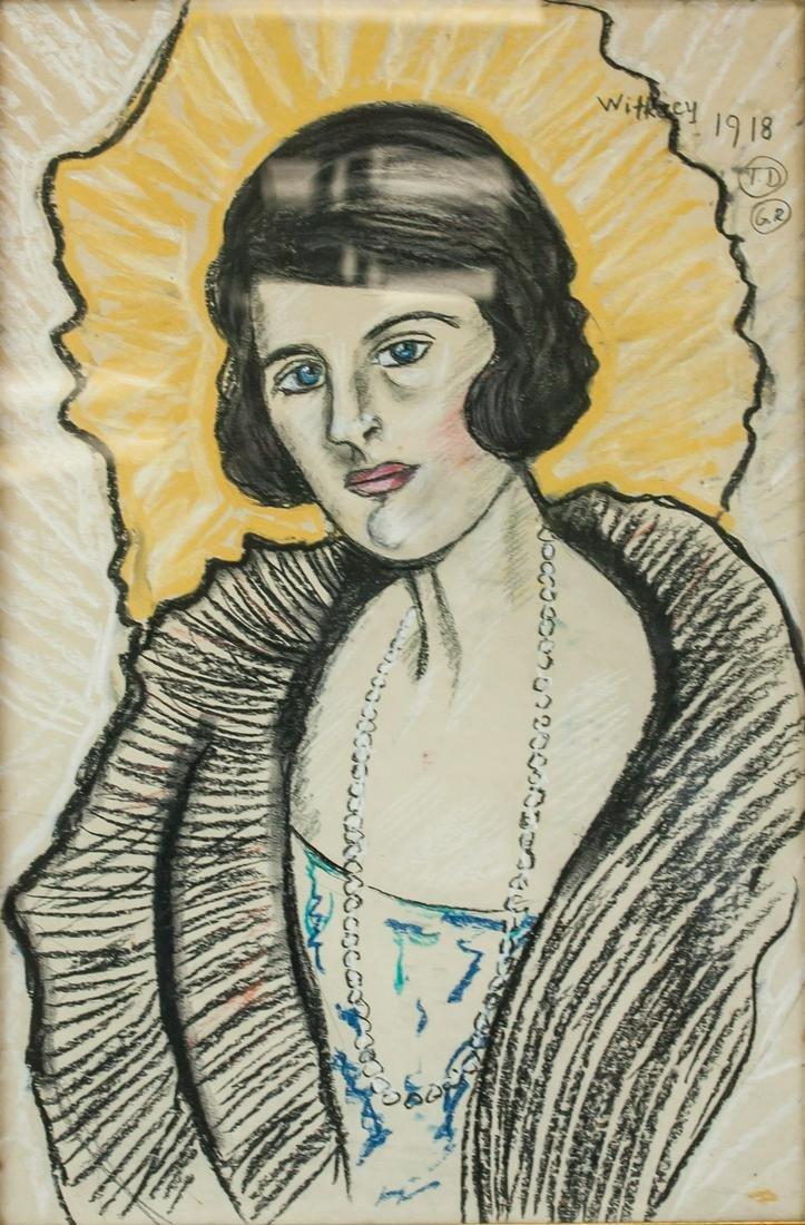 Stanislaw Witkacy 1918 Polish Modernist Charcoal