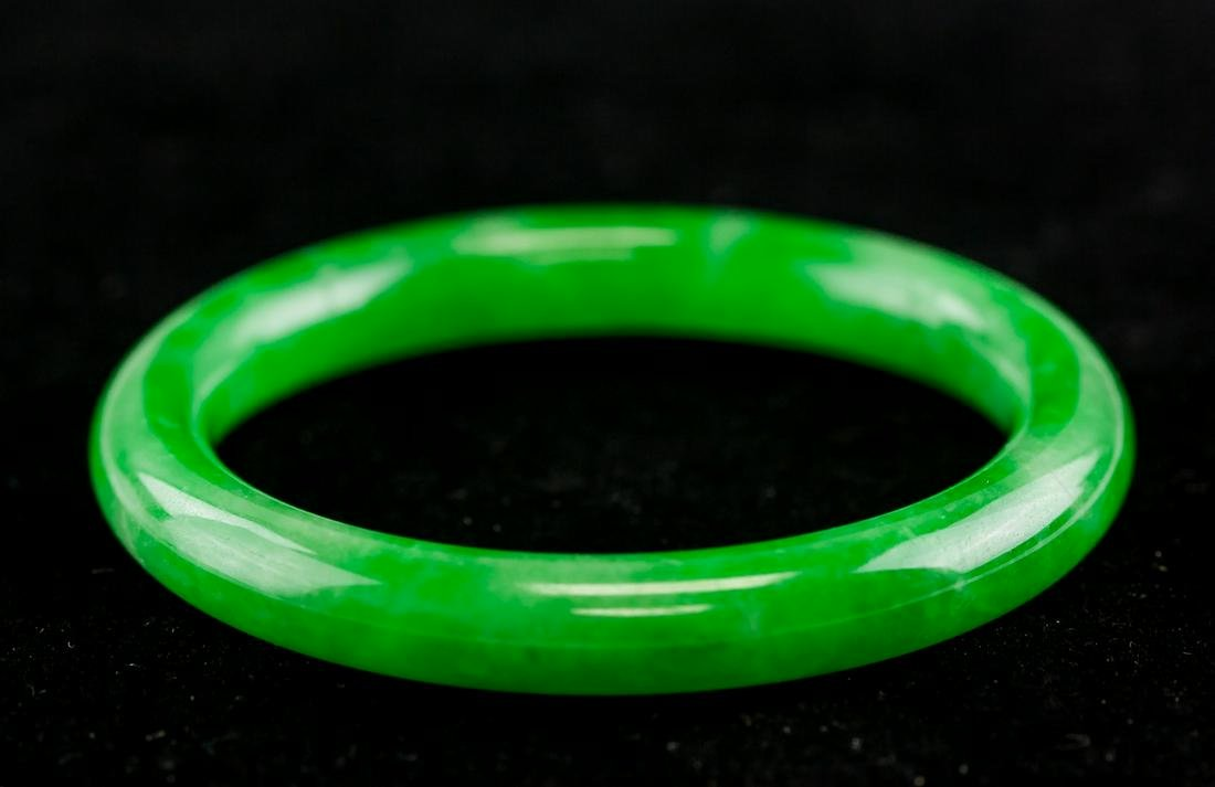 Chinese Burma Green Jadeite Bangle GIA Certificate