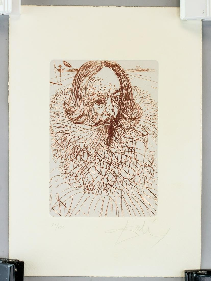 Salvador Dali Spanish Signed Linocut 20/100
