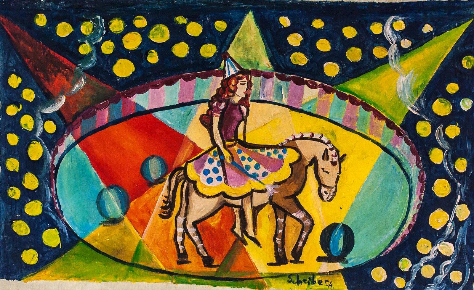 Hugo Scheiber Hungarian Modernist Oil on Canvas