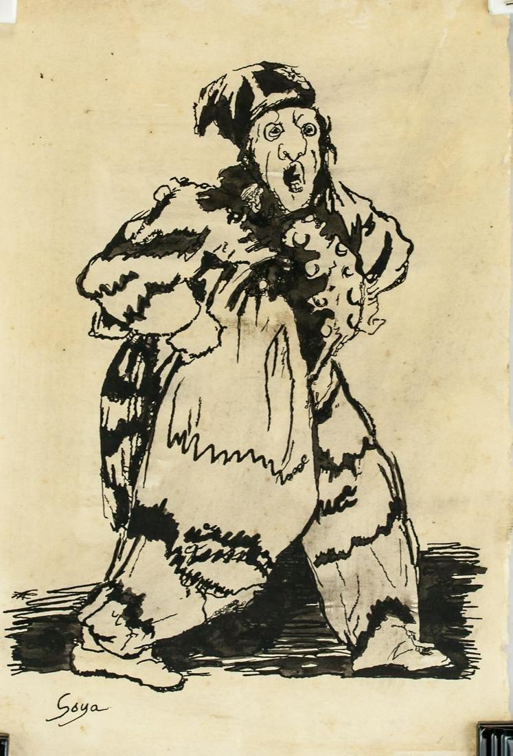 Francisco Goya Spanish Romanticist Ink on Paper