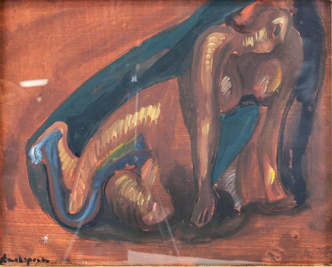 Alexander Archipenko American Cubist Gouache