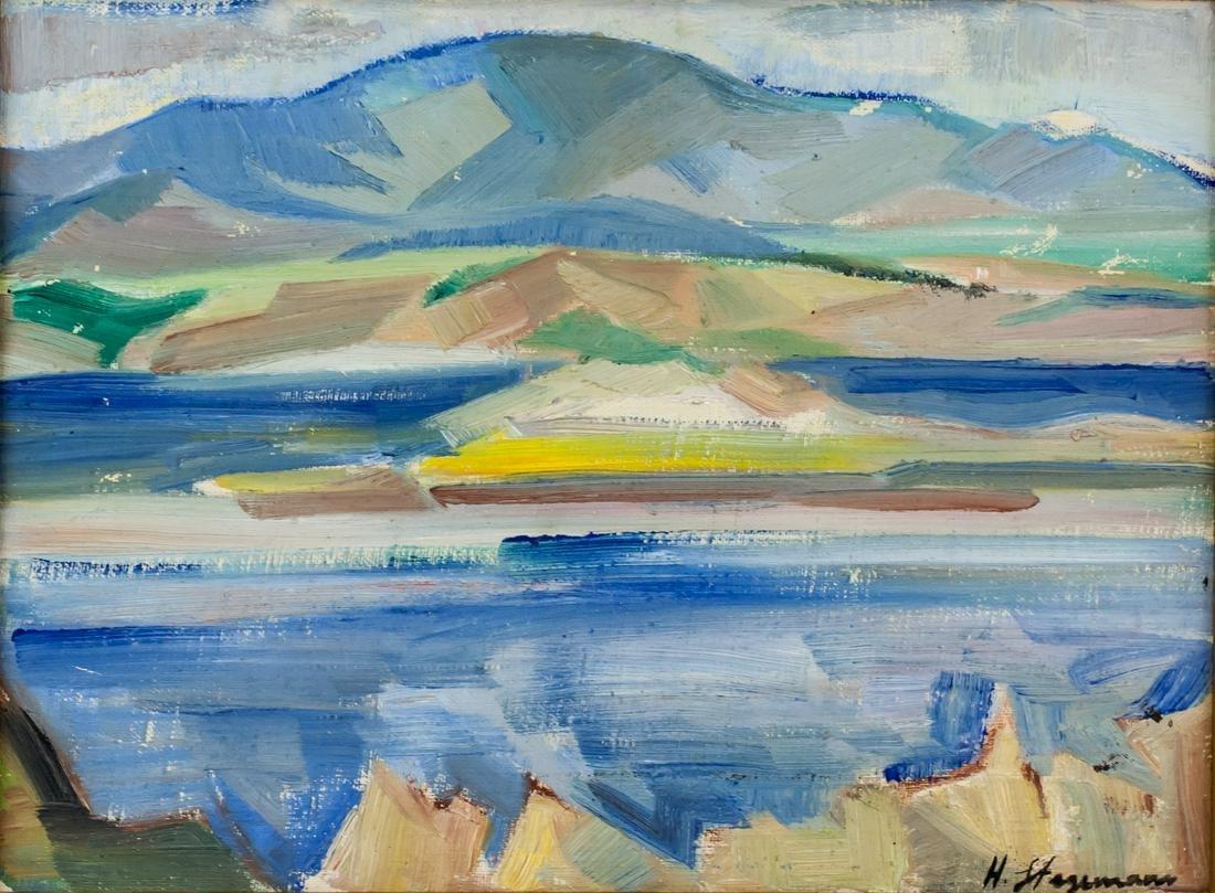 Heinrich Stegemann German Modernist Oil on Canvas