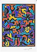 Keith Haring American Pop Signed Lithograph 89