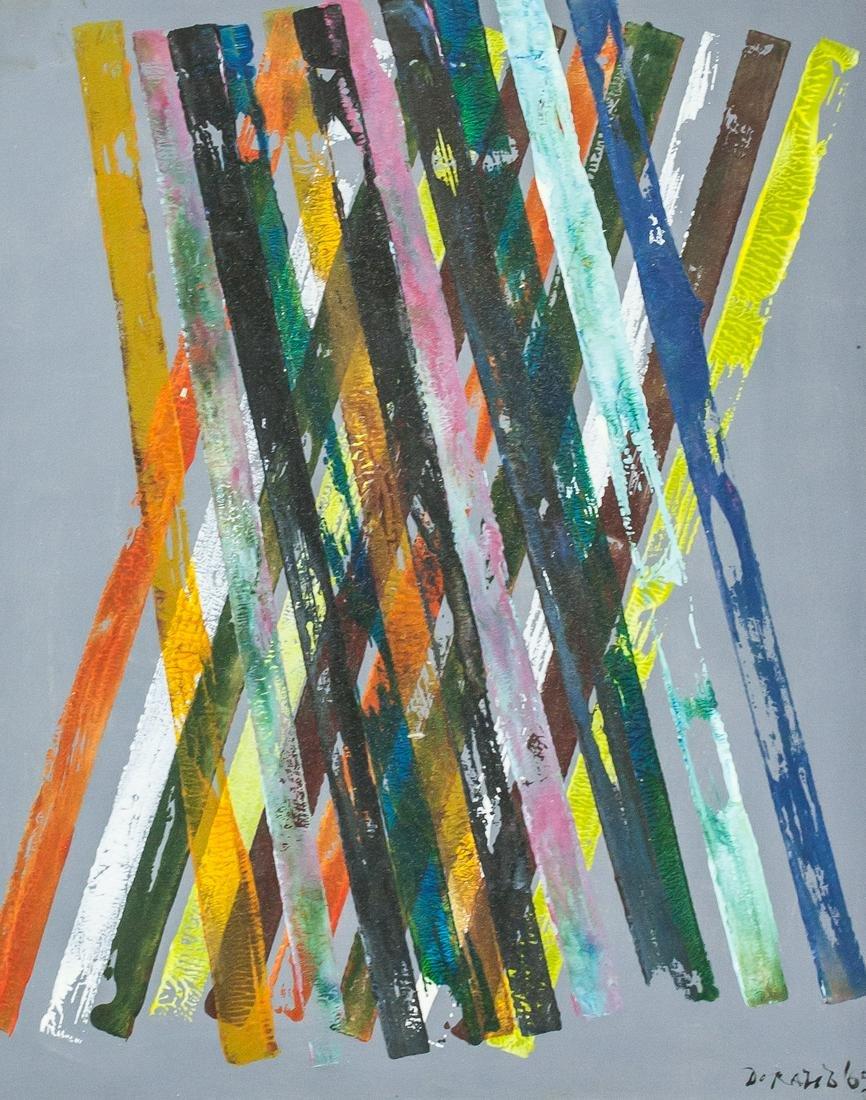 Piero Dorazio Italian Abstract Oil on Canvas