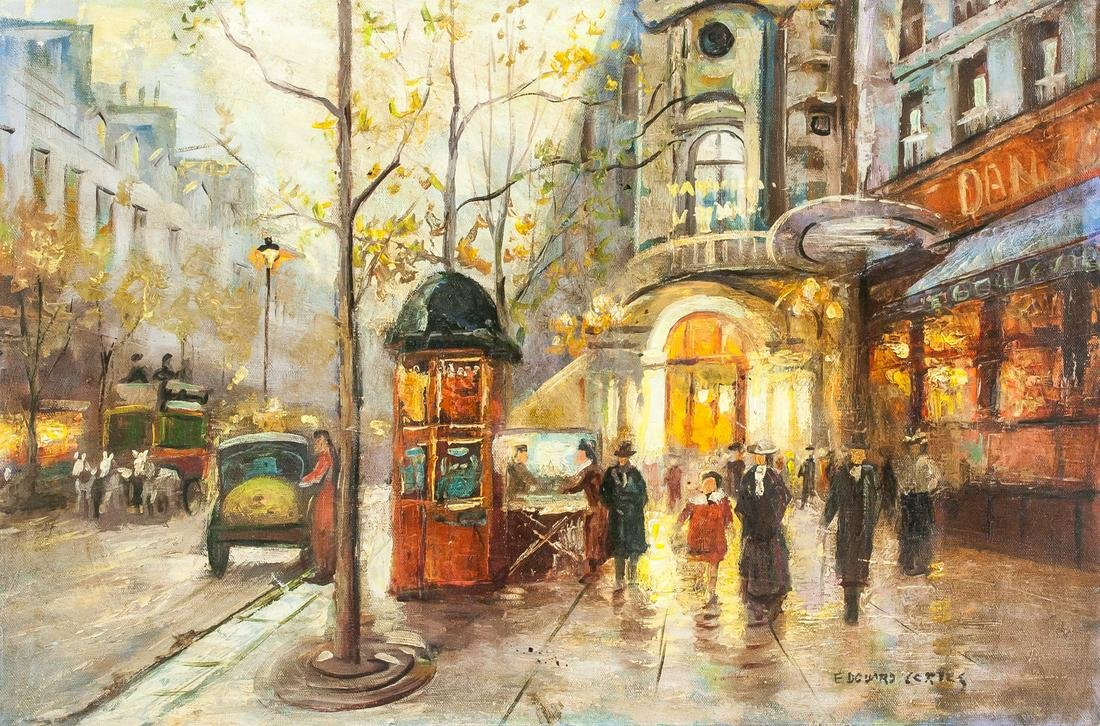 Edouard Cortes (after) French Oil on Canvas LEFEVRE