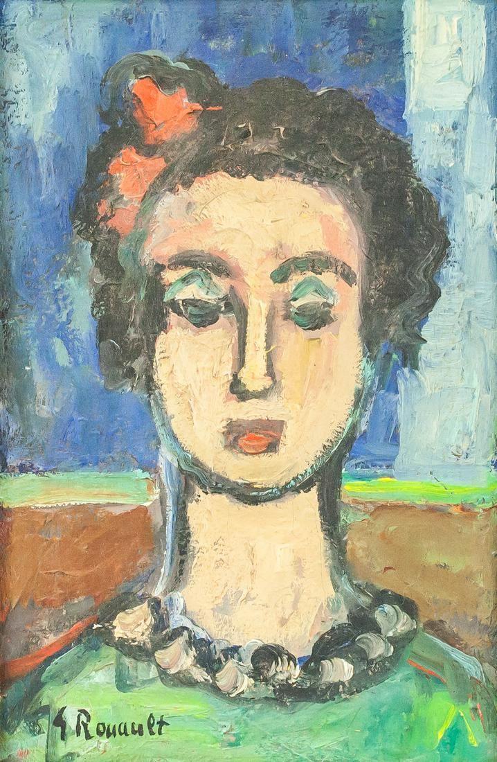 Georges Rouault French Fauvist Oil/Canvas Portrait