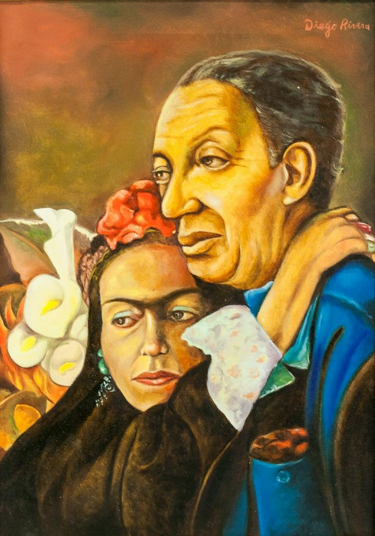 Diego Rivera Mexican Modernist Oil on Canvas