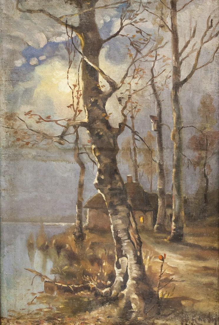 Julius Klever Russian Oil on Canvas Waddington's