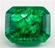 13.2ct Emerald Cut Green Emerald Gem GGL COA