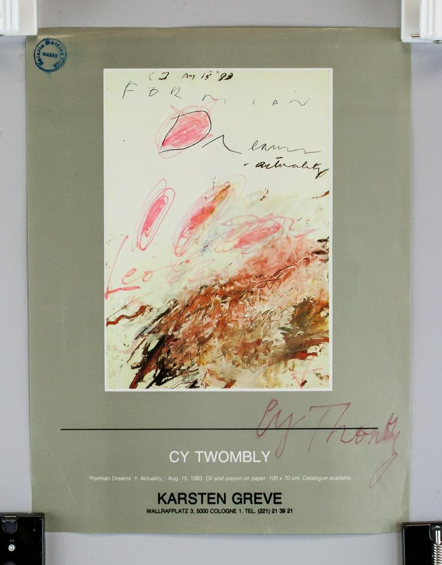 Cy Twombly Signature on Single Leaf Magazine Page