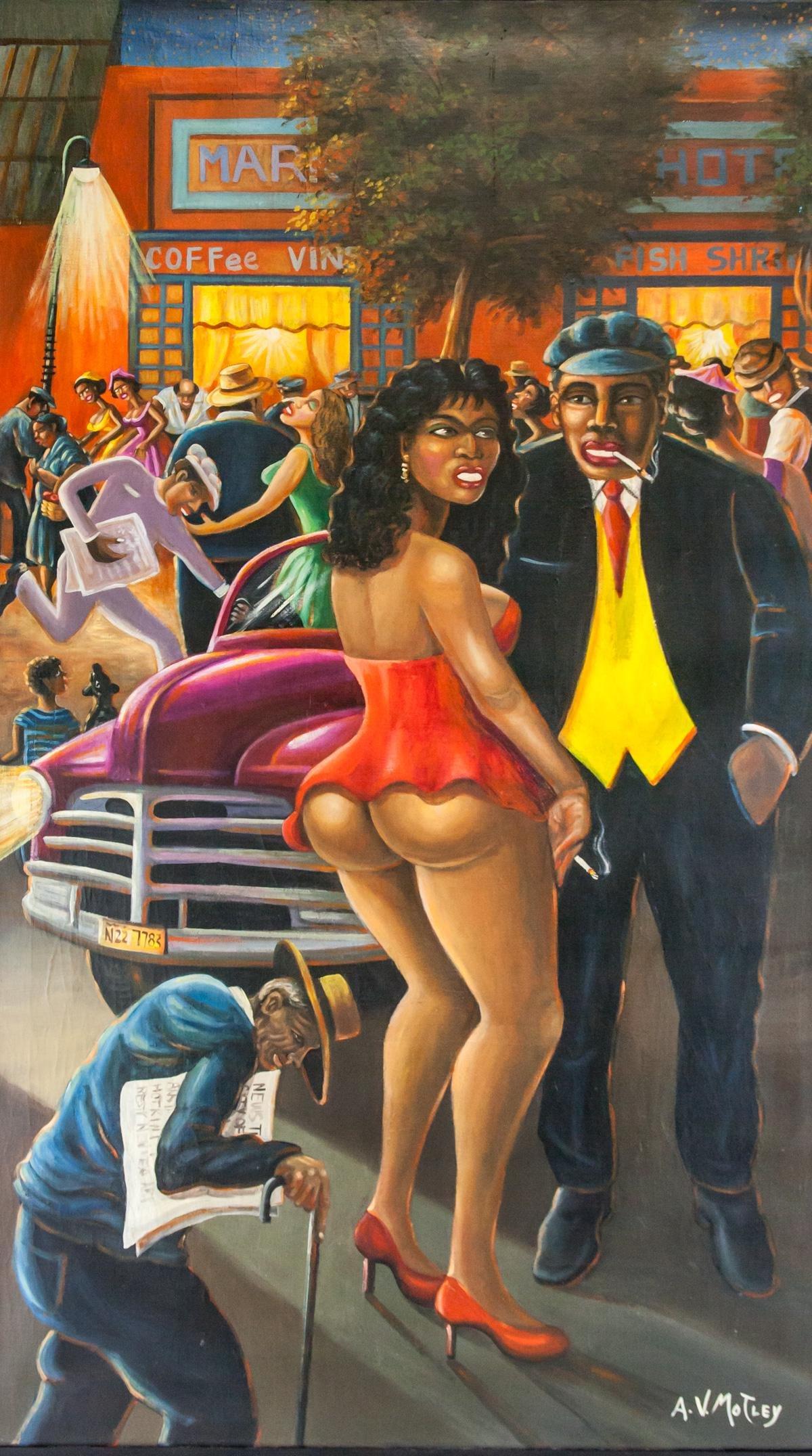 Archibald Motley American Oil on Canvas