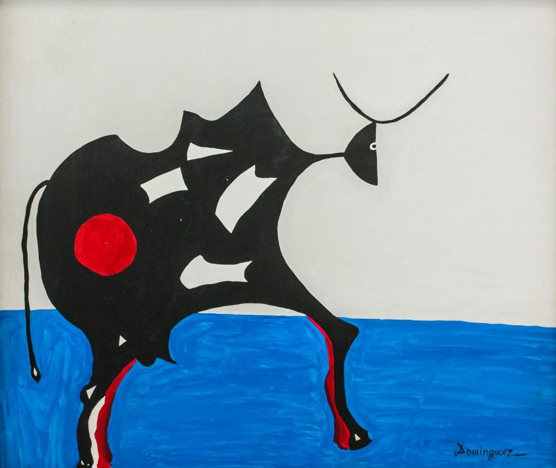 Oscar Dominguez Spanish Modernist Oil on Canvas