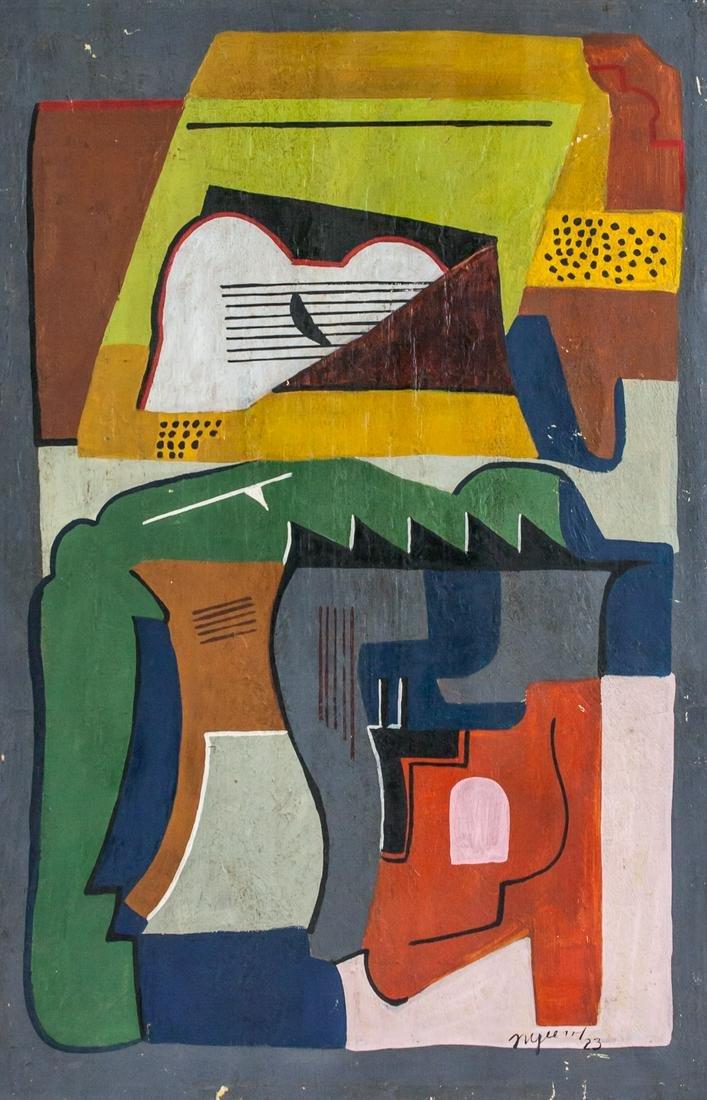 """Albert Gleizes French Cubist Oil / Canvas """"23"""""""
