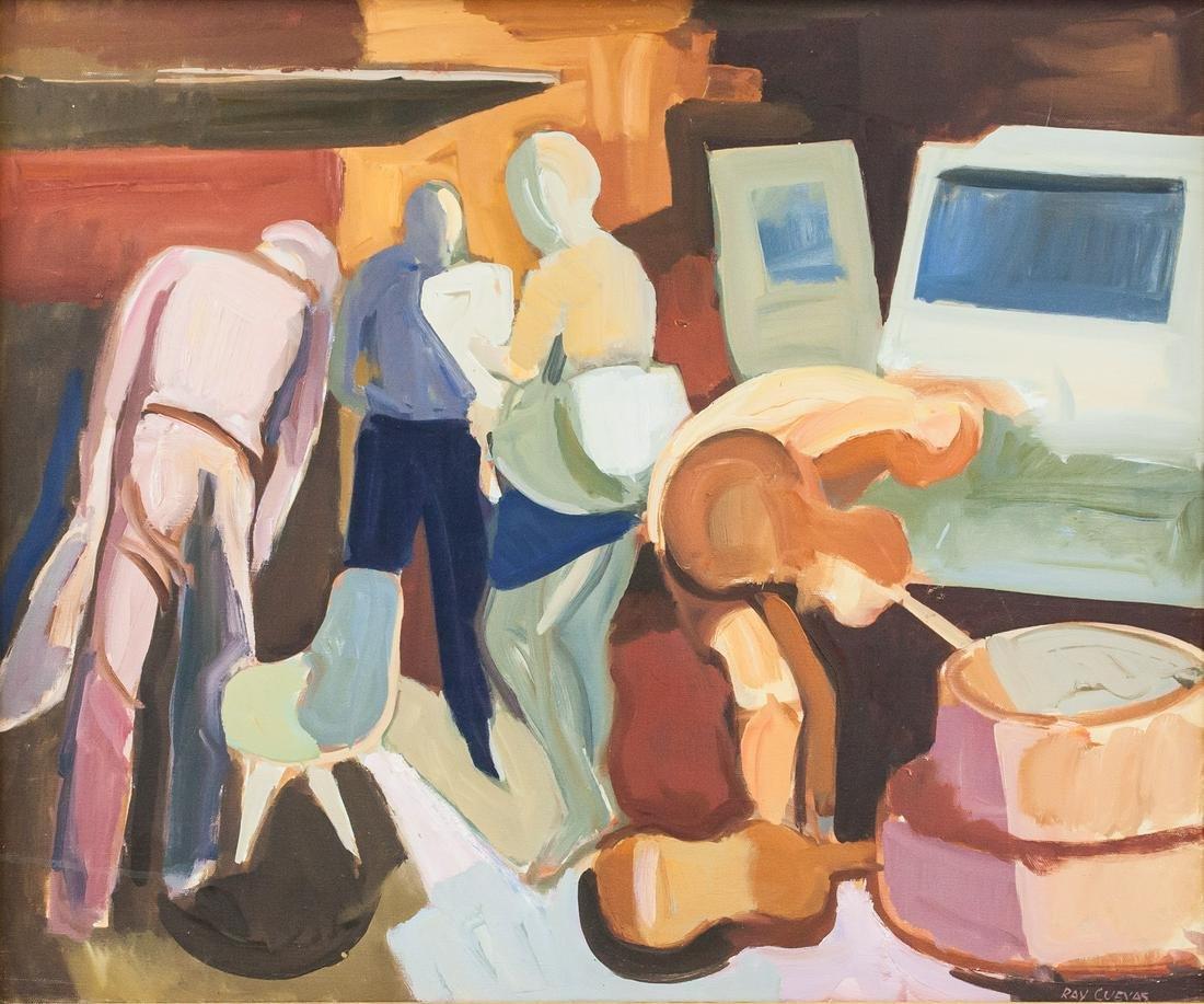Raymond Cuevas born 1932 American Acrylic/Canvas