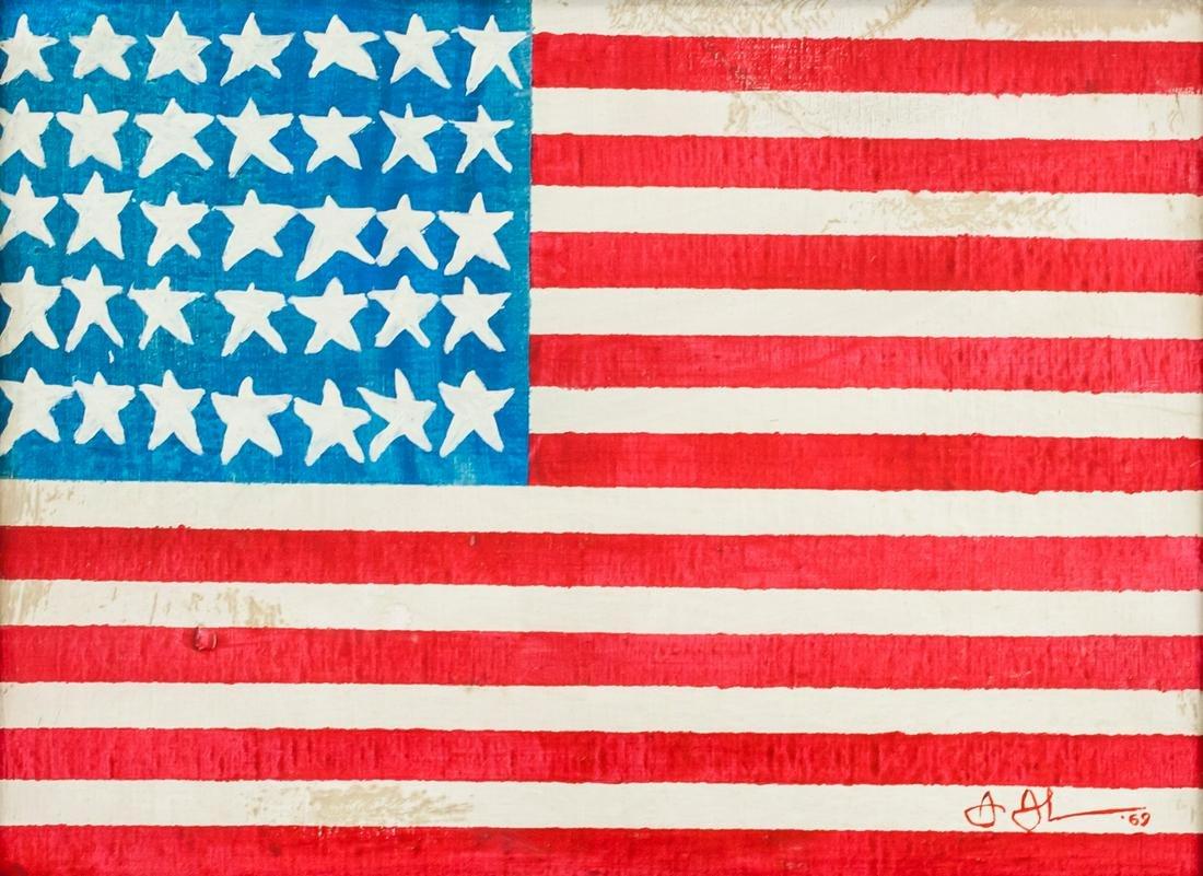 Jasper Johns American Modernist Oil on Canvas