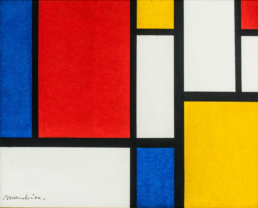 Piet Mondrian Dutch Abstract Oil on Canvas