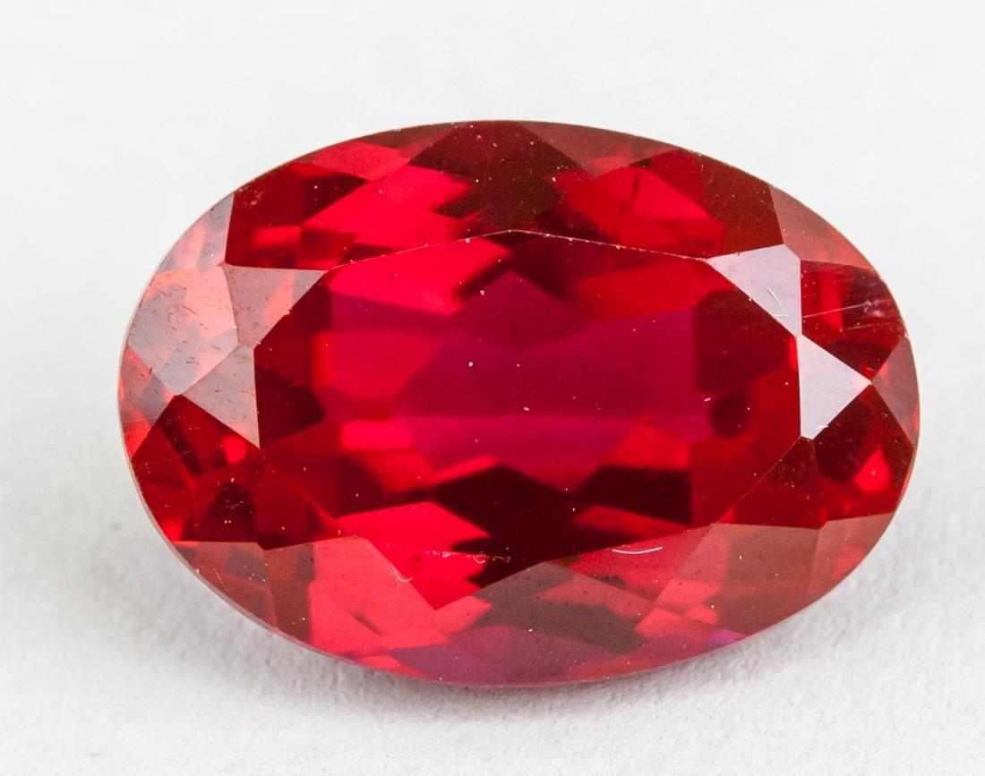 10.30ct Oval Cut  Red Ruby Gemstone GGL CERT