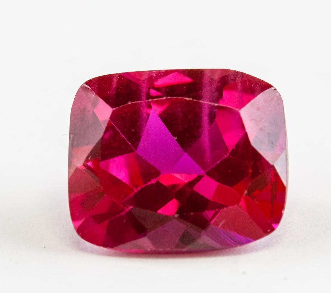 6.45ct Cushion Cut Red Ruby Gemstone AGSL CERT