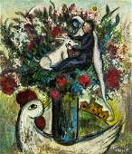 Marc Chagall RussianFrench Surrealist Oil Canvas