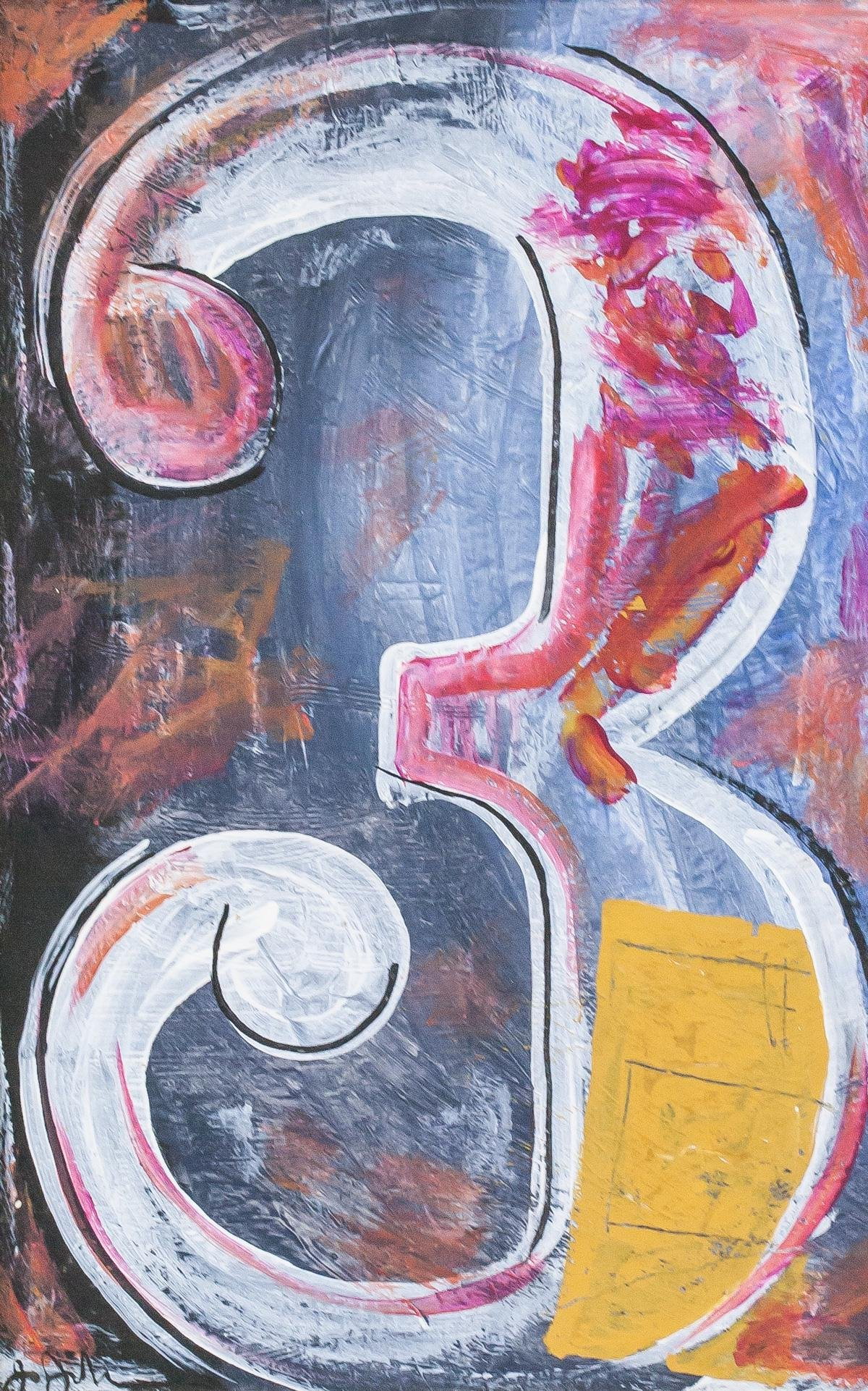 Jasper Johns American Abstract Oil on Canvas