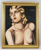 Tamara de Lempicka Polish Art Deco Oil on Canvas