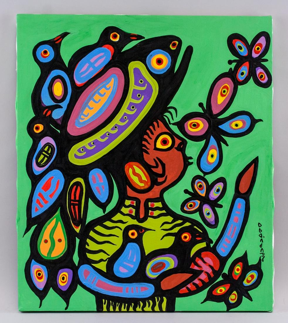Norval Morrisseau Canadian Acrylic on Canvas