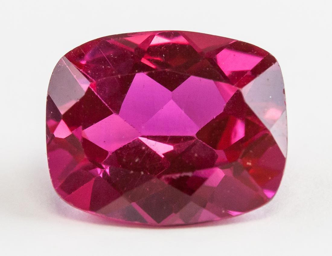 7.30ct Cushion Cut Red Ruby Gemstone GGL