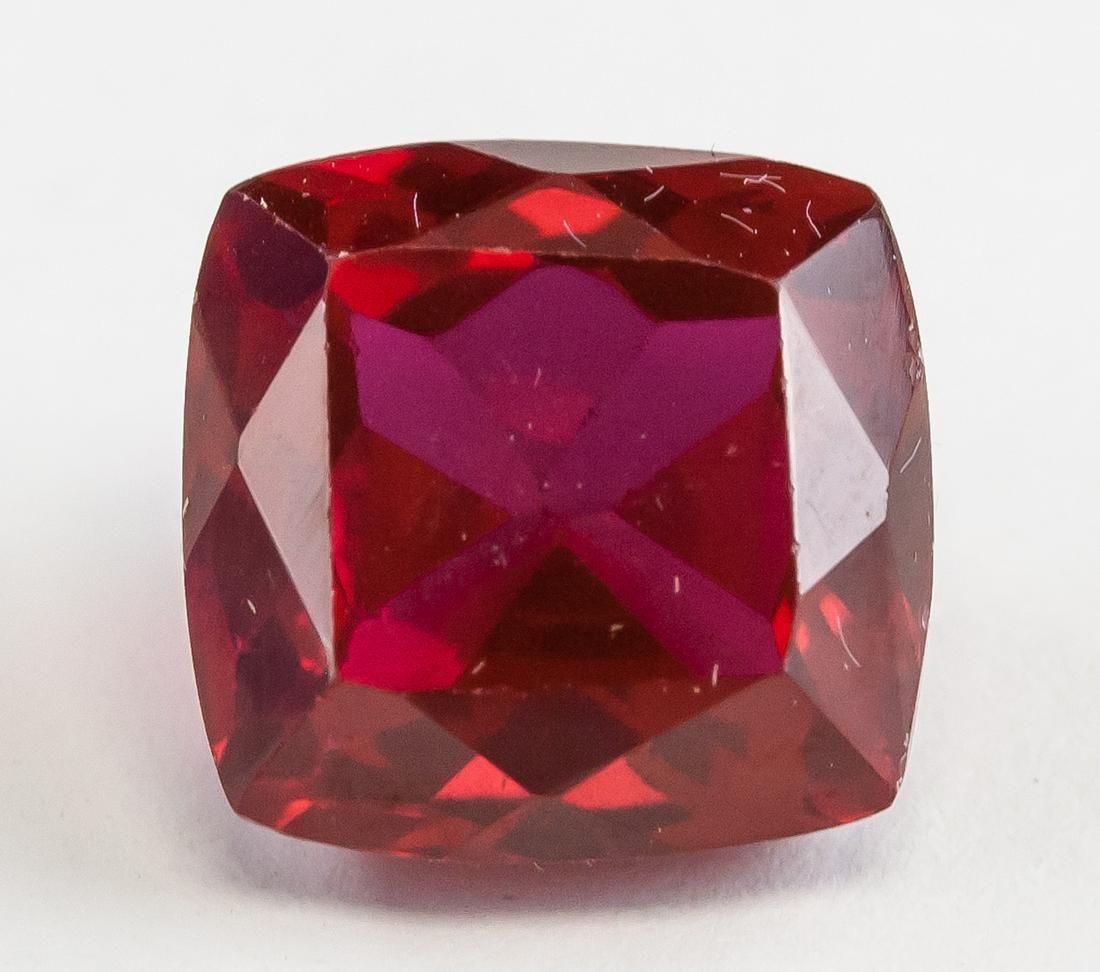 Cabi9.65ct Cushion Cut Blood Red Ruby Gemstone GGL