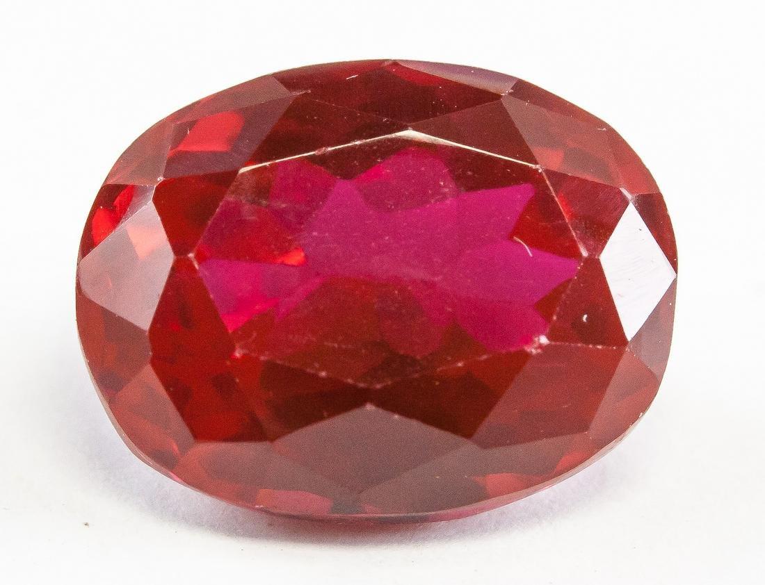 16.55ct Oval Cut Red Ruby Gemstone GGL Certificate