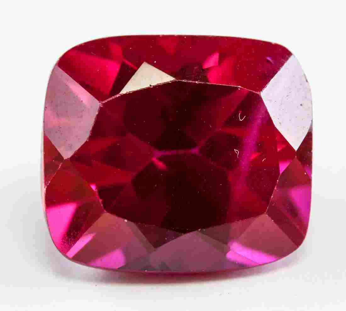 9.05ct Cushion Cut Red Ruby Gemstone GGL