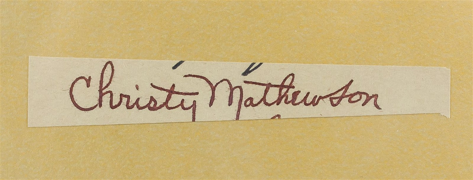 GSA Certified Christy Mathewson Cut Signature