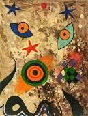 Joan Miro Spanish Mixed Media Stamped CHRISTIES