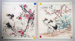Chinese Watercolor Paper Rolls Signed by Artist