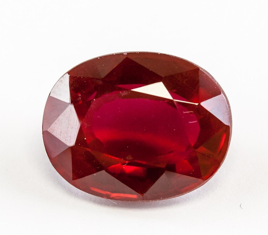 20.60ct Oval Cut Blood Red Ruby Gemstone GGL