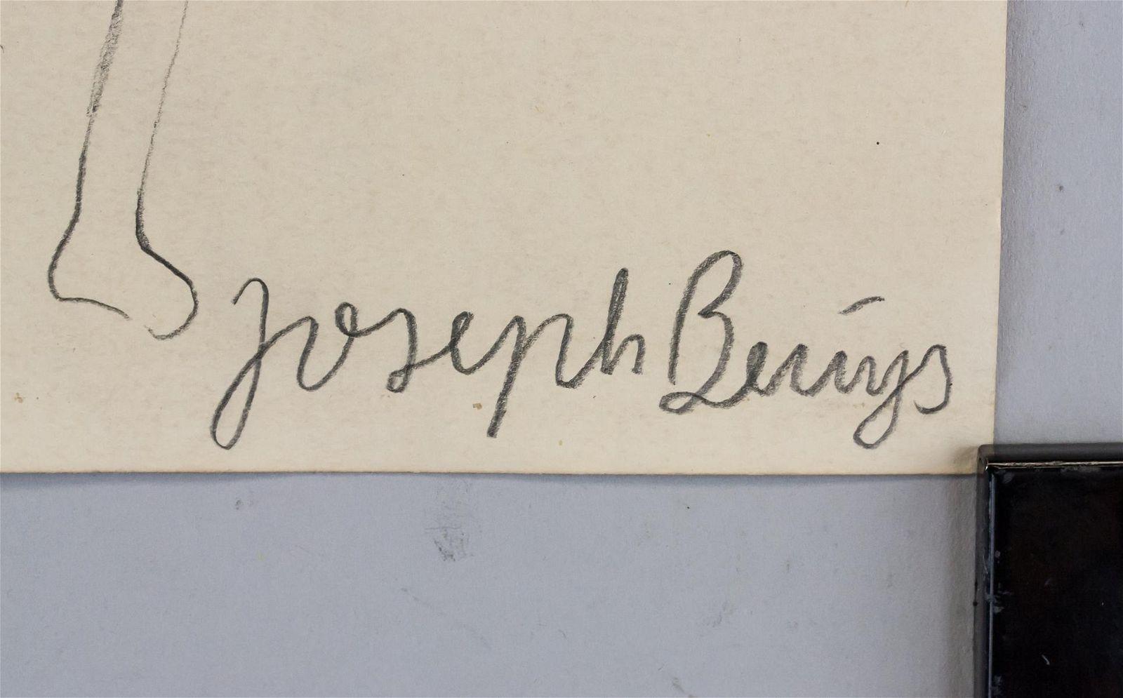 "Joseph Beuys German Modernist Mixed ""J. B. 87"""