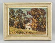 George Thomson Canadian Oil on Board Landscape