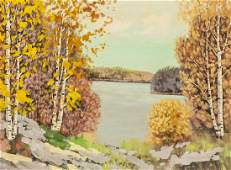 George A. Thomson Canadian Oil on Board