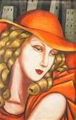 Tamara de Lempicka Polish Modernist Oil on Canvas