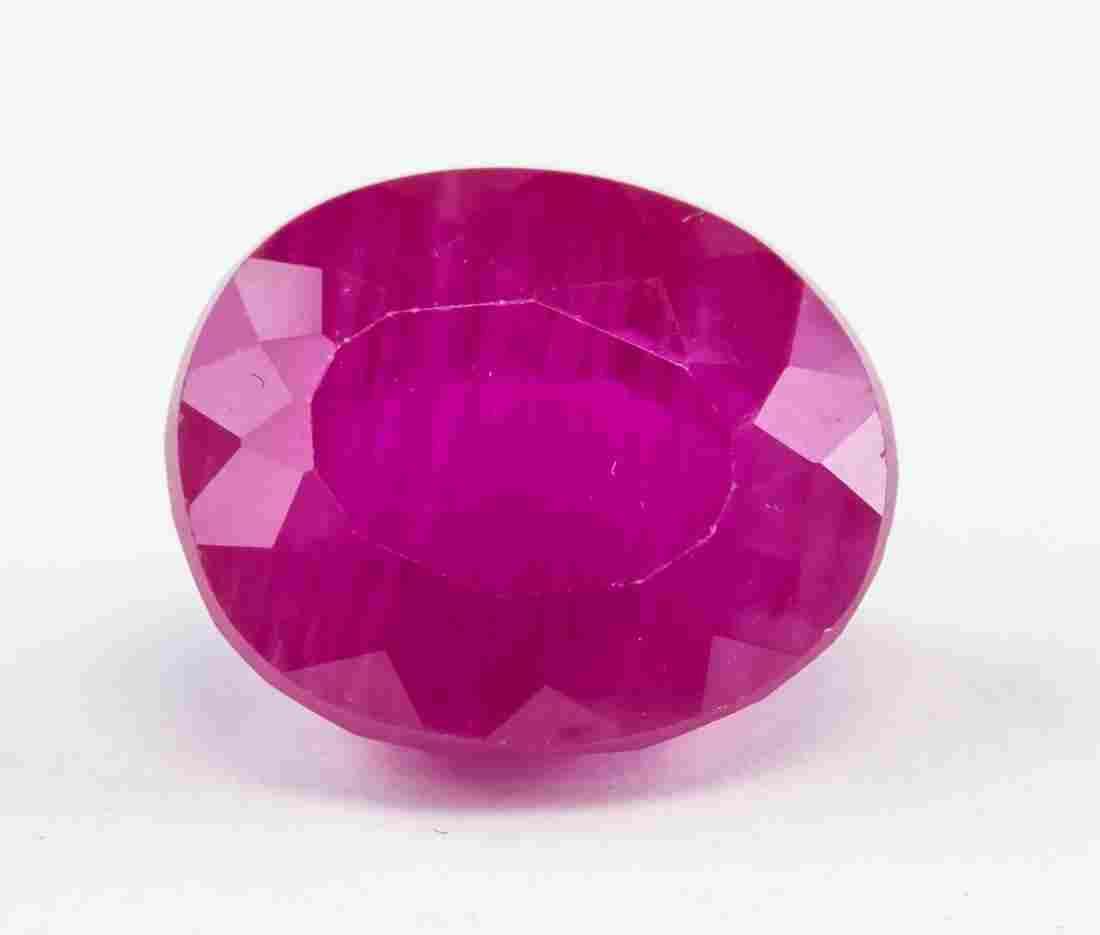 10.75ct Oval Cut Pink Ruby Gemstone AGSL