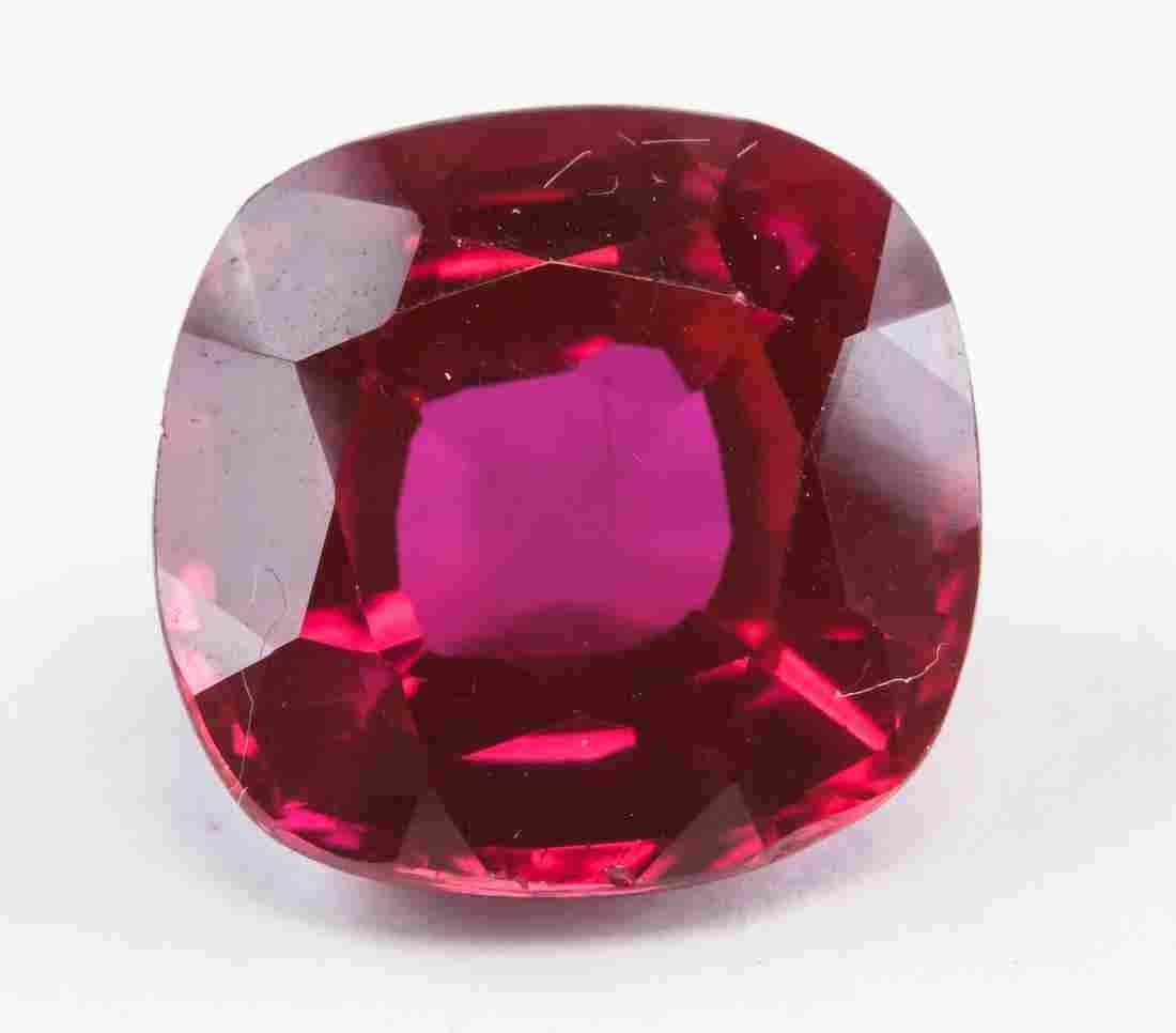 8.20ct Cushion Cut Blood Red Ruby Gemstone AGSL