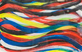 Sol Lewitt American Modernist Acrylic on Paper 94