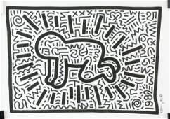 Keith Haring American Poper Mixed Media 1982