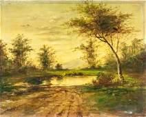 Charles-Francois Daubigny French Oil on Canvas