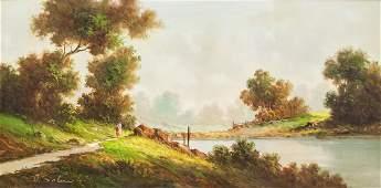 Giuseppe Solenghi Italian Modern Oil on Canvas