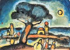 Georges Rouault French Fauvist Gouache on Paper
